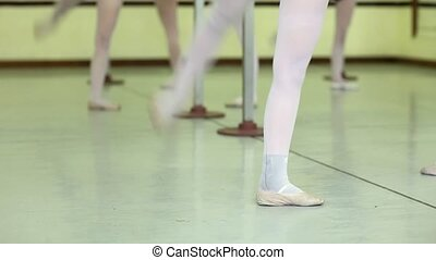 Ballet school with young women - Group of female teenagers...