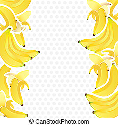 background with bunches of bananas - background decorated...