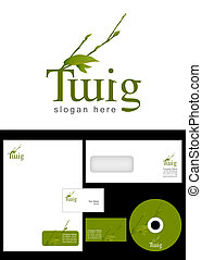 Twig Logo Design and corporate identity package including...