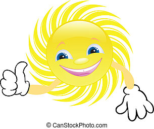 happy sun gesturing with hands