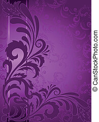 Purple background with ornament - abstract purple background...