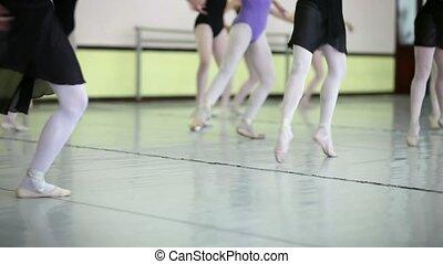 Ballet dancers training at school - School of ballet with...