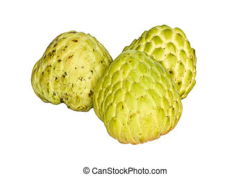 Custard-apple isolate on white background