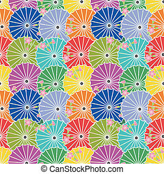 seamless background with japanese umbrellas