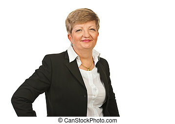 Smiling mature business woman