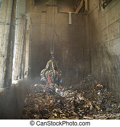 Garbage Dump - Industrial claw with Garbage Dump