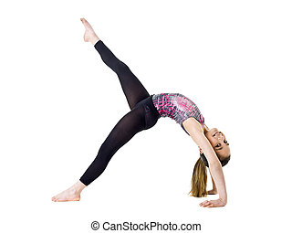 Gymnastic Girl - Young Gymnastic Girl isolated on white...