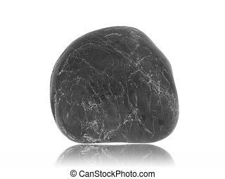 River Rock - A river rock isolated against a white...