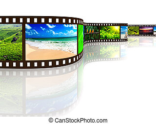Photo film with reflection