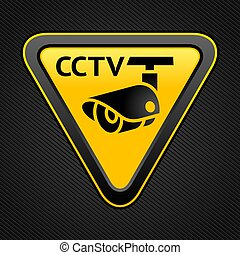 CCTV triangle sign - Warning Sticker for Security Alarm CCTV...