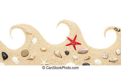 sand isolated . Beach sand .