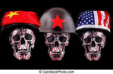 skulls - Skulls with helmets