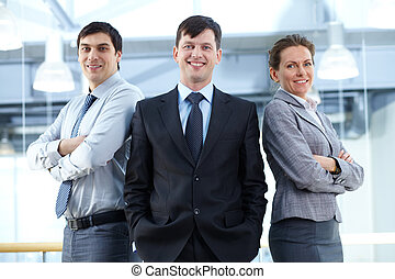 Group of managers - Portrait of three business partners...
