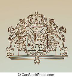 Detailed Vintage Royalty Emblem - High Quality - in vector