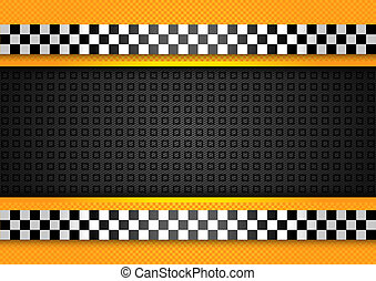 Taxi cab background, racing blank template. Vector 10eps