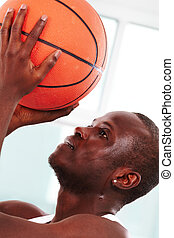 Basketball player - Image of a basketball player throwing...