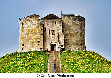 Stone Keep York Castle - The fortified Norman stone keep at...
