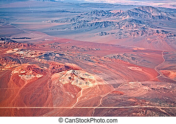 aerial view of volcanoes, Atacama desert, Chile - aerial...