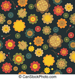 seamless pattern with scrapbook