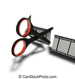 cut - a pictogram to symbolize video cutting and editing