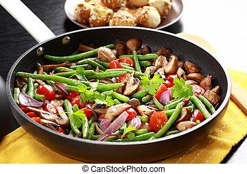 Roasted mushrooms with vegetable
