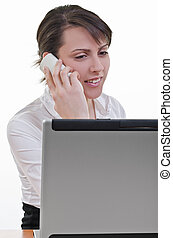 assistant answering phone call