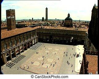 BOLOGNA pza maggiore overhead - Overhead view of Piazza...