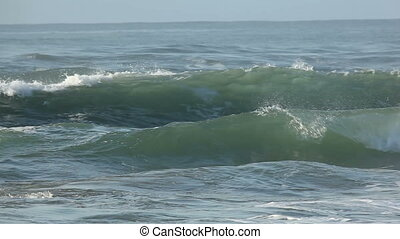 Waves - Seascape with large breaking waves