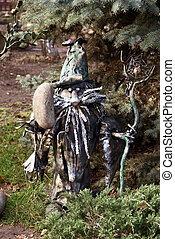 metallic goblin - handicraft metallic goblin in garden