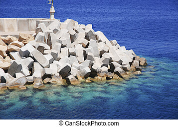 Bulwark To Protect The Harbour From Wave Strikes - A barrier...