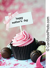 Mother's, day, cupcake