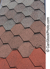 Building materials - tiled roof background