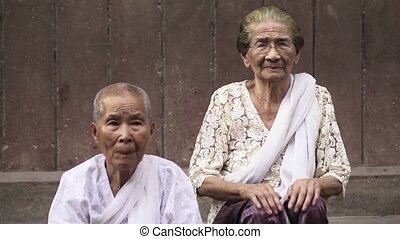 Portrait of two senior asian women