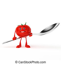 3d rendered illustration of a food character - tomato
