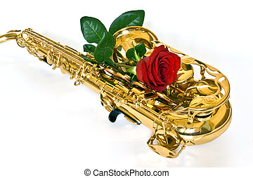 sax and rose