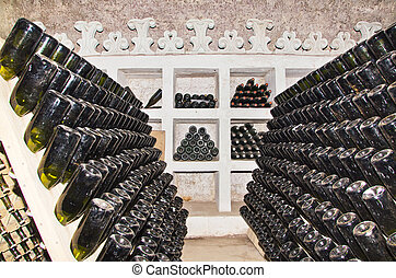 classic champagne production - rack for classic champagne...