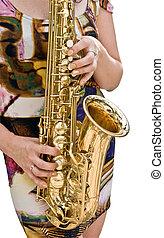 girl and sax