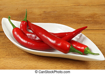 Red cayenne peppers - Fresh red cayenne peppers. Vegetables...