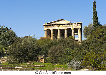 Hephaisteion, (, templo, Hephaistos, Athena, )