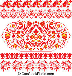 Floral indian ornaments
