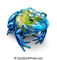 Global Earth Frog