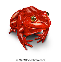 Red Frog - Red frog as a symbol of the environment and a...