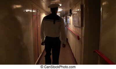 The corridor of the ship