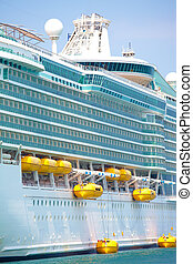 Holiday cruise liner - White holiday cruise liner in the...