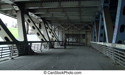 The reinforced concrete bridge Metal constructions