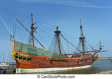 VOC galleon in the Netherlands - Replica of a old Dutch...