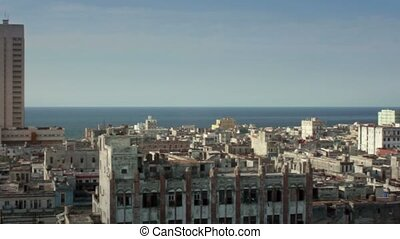 Havana and Caribbean sea, Cuba - City view of Havana and...