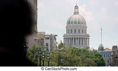 Capitolio and streets, Havana, Cuba - Details of Havana,...