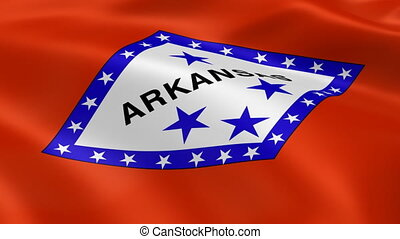 Arkansan flag in the wind. Part of a series.