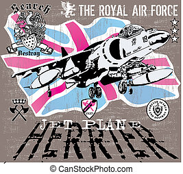 herrier jet - illustration for poster and shirt printed